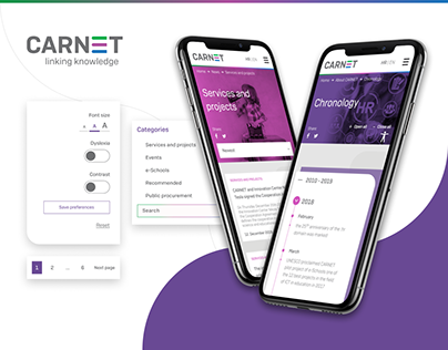 CARNET home - WordPress redesign