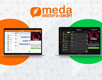 Meda Chat Desktop Version Concept Design