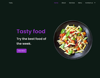 Responsive Restaurant Website (Dark Mode)
