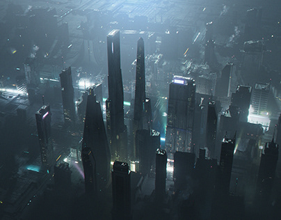 SCI-FI City CGI