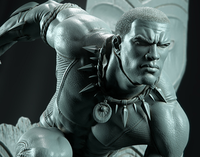 -BLACK PANTHER- DIGITAL SCULPT