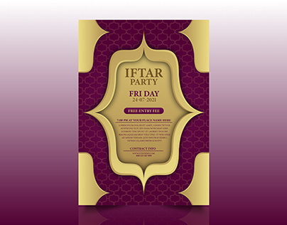 IFTAR PARTY PRINT FLYER DESIGN
