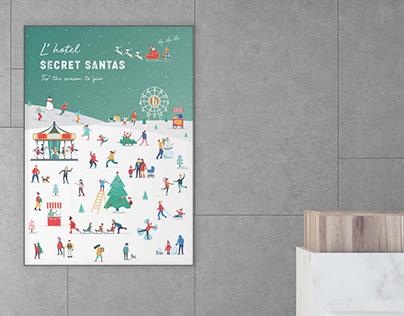 Branding | L'hotel Christmas Secret Santas