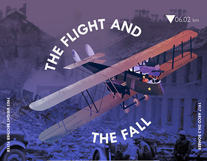 The Flight and The Fall- Wright Brother's Poster