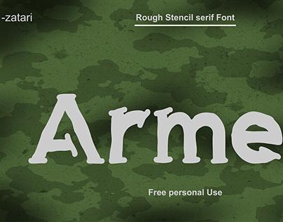 ARMED STENCIL FONT