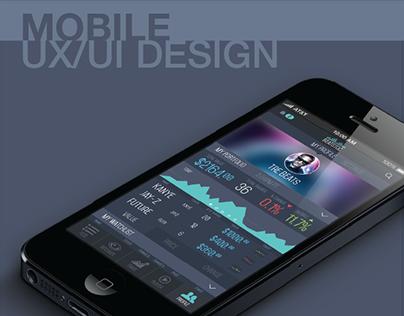 Music Stock Market Mobile App