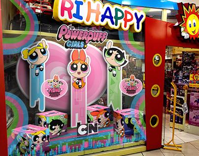 Powerpuff Girls + Ri Happy