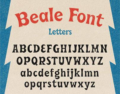 Beale funky serif font