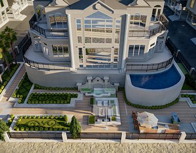 Luxury Backyard 3d model backyard design