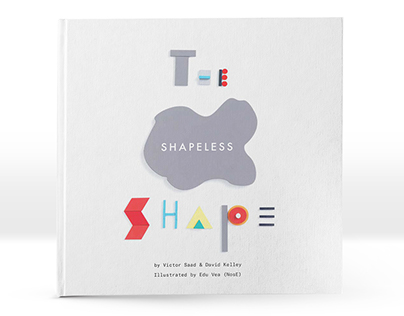 The Shapeless Shape (kid's book illustrations on wood)