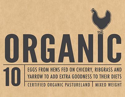 Golden Irish Organic Eggs 10 box packaging design