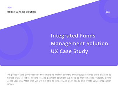 UX case study. Mobile banking solution
