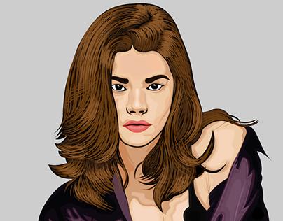 Portrait Vector - Denise Richards
