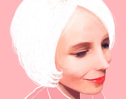 Digital Paintings White Hair