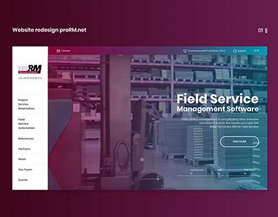 Website redesign proRM.net