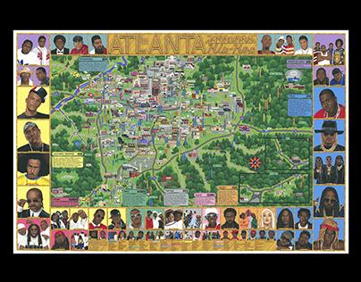Atlanta Rap Map