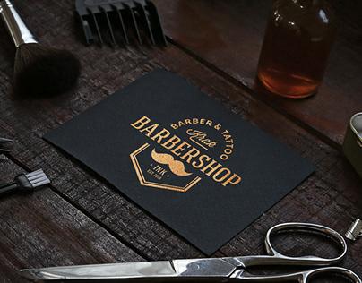 KRAK BARBERSHOP wizytówki, logo, CI