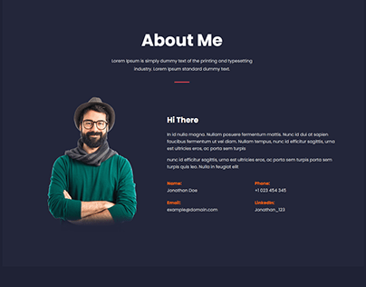 Personal Portfolio using html5 css3 and Bootstrap
