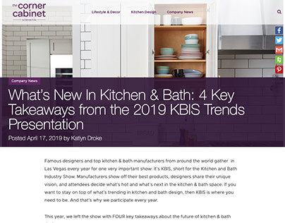 Cabinets To Go - Content Strategy and Blog Writing
