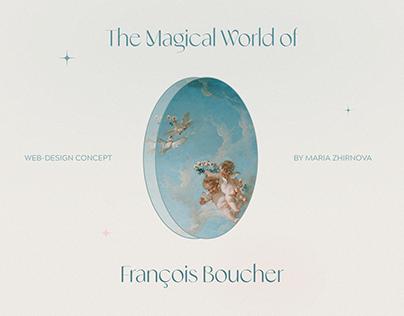 François Boucher Art Gallery - Website concept