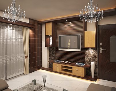 Living & Kitchen Room 3D visualizing