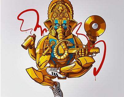Hip-Hop Ganesha