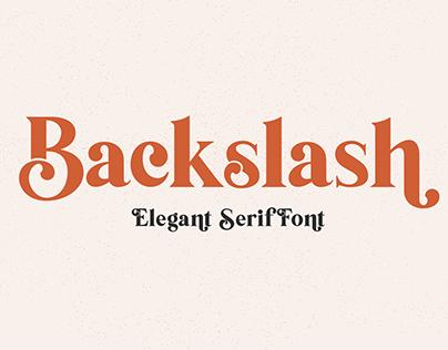 Free Font | Backslash