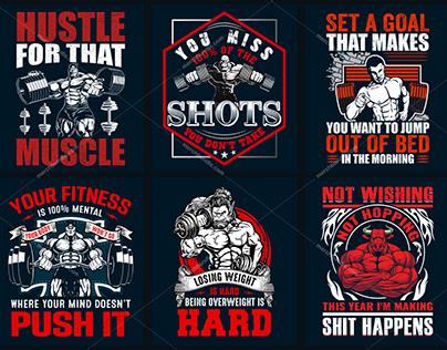 Gym T Shirt Design Bundle