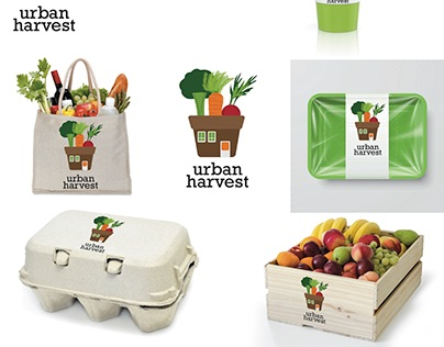 Branding Project: Urban Harvest whole foods chain