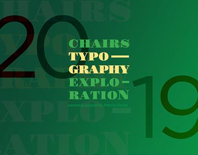 Chairs - Exploration typographique