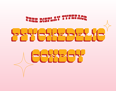 FREE FONT Psychedelic Cowboy