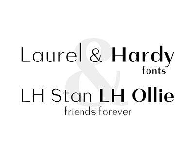 Laurel and Hardy Fonts