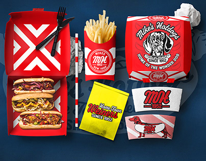 Mike's Hot Dogs Branding and Food Packaging