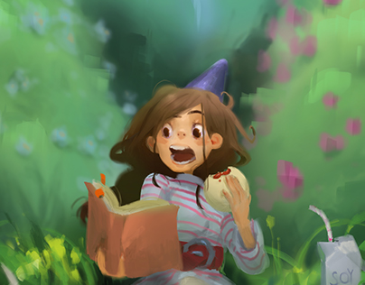 ~ studying in the garden ~