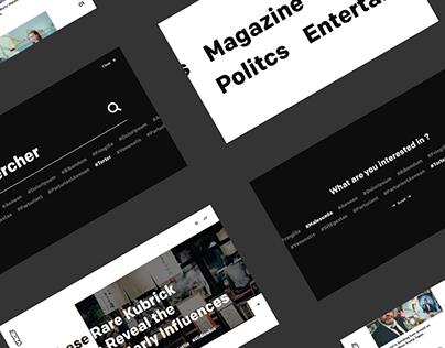 Vice website concept