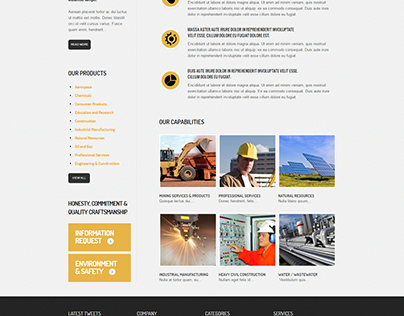 Industrial Drupal Theme