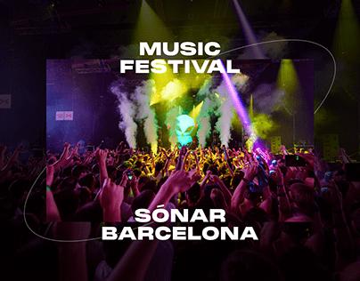 Sónar — Music Festival UX/UI redesign concept