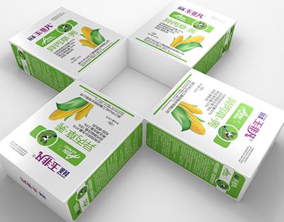 清新典雅的玉米田除草剂包装设计,农药包装,包装盒设计,标签设计