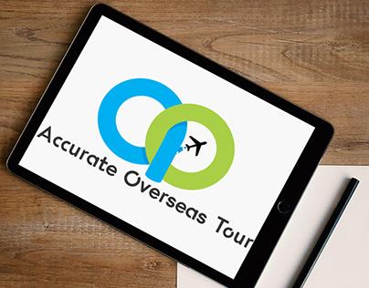 Accurate Overseas Tour Logo Design