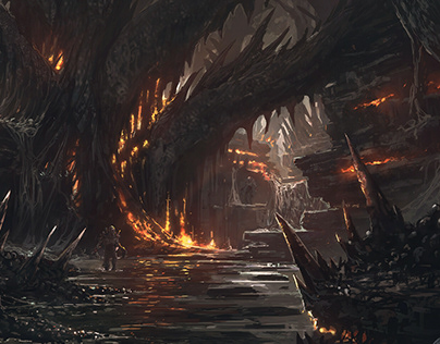 Devil's Hunt | Hell setting concept art