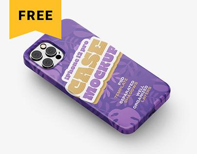 Free iPhone 12 Pro Case Mockup Set