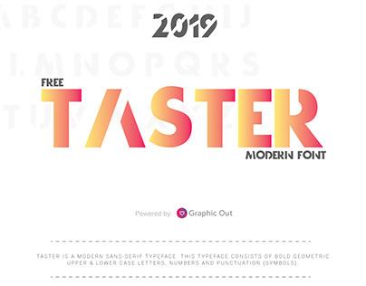 Taster Free Font