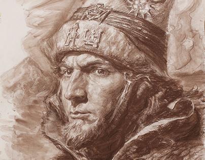 Viking - Sepia Drawing
