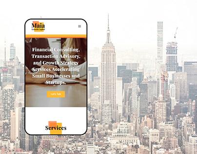 Maia Growth Capital - Logo & Website Design
