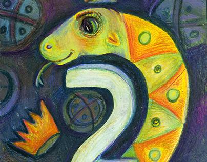 Skaičiai. Numbers (children illustration)