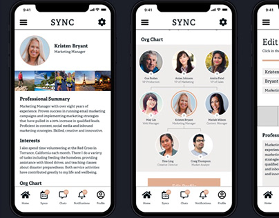 UI/UX App Design: Sync // 2019