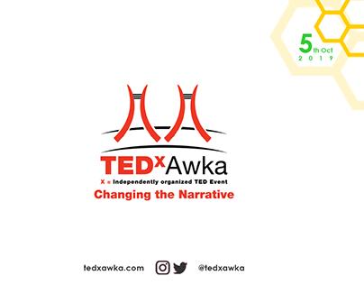 TEDxAwka Brochure Design