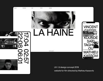 """La Haine"". Website concept for film"