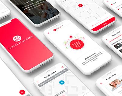 Legal app UI/UX Design