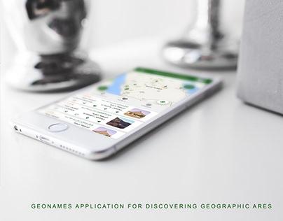 Geo names App UI/UX design